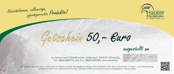 Gutschein 50 €uro